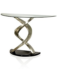 Marisa Glass Top Console Table