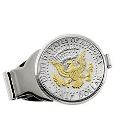 Selectively Gold-Layered Presidential Seal Half Dollar Coin Money Clip