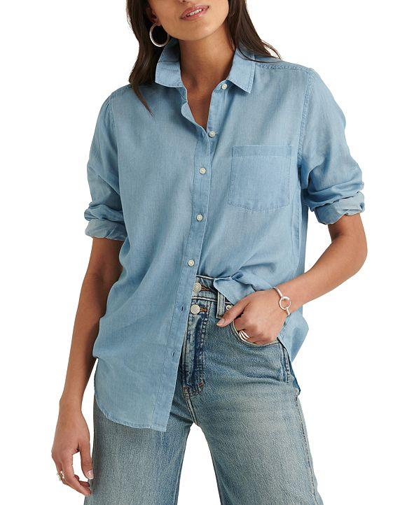 Lucky Brand Point-Collar Shirt