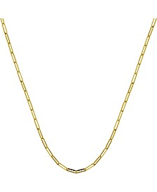 "Paper Clip Link 24"" Chain Necklace"