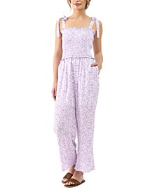 Mojito Please Floral-Print Smocked-Top Jumpsuit