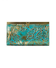 Cauchy Metallic Embossed Leather Wallet, Created for Macy's