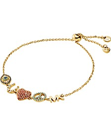 Pavé Good Luck Charm Slider Bracelet