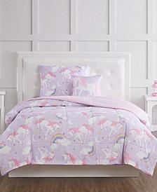Rainbow Unicorn Twin 3 Piece Comforter Set