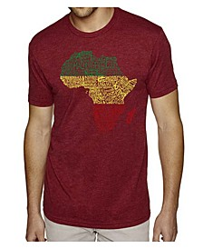 Men's Premium Word Art T-shirt - Countries in Africa