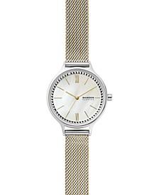 Women's Anita Two-Tone Stainless Steel Mesh Bracelet Watch 30mm