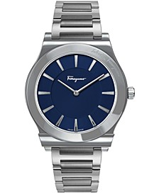 Men's Swiss 1898 Slim Stainless Steel Bracelet Watch 41mm