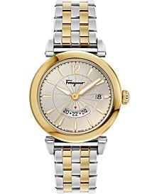 Men's Swiss Feroni Two-Tone Stainless Steel Bracelet Watch 40mm