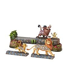 Lion King Cast On Log Figurine