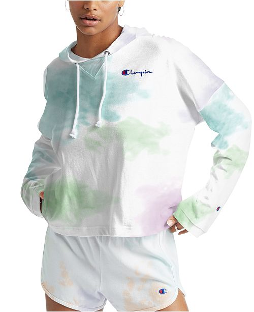 Champion Women's Cotton Cloud Tie-Dyed Oversized Hoodie