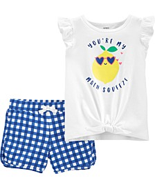 Toddler Girls 2-Piece Tie-Front Top and Short Set