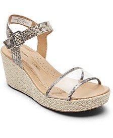 Women's Lyla Two-Piece Wedge Sandals