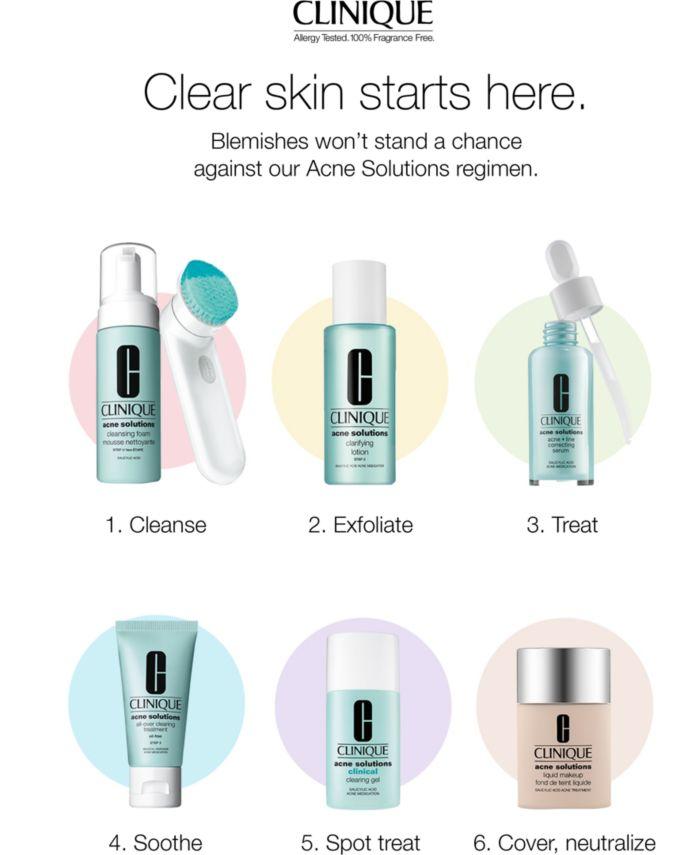 Clinique Acne Solutions Acne + Line Correcting Serum, 1 oz. & Reviews - Skin Care - Beauty - Macy's