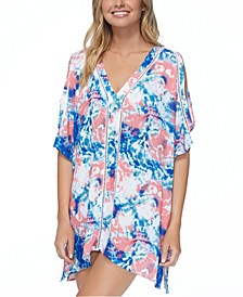 Juniors' Torquay Printed Caftan Cover-Up