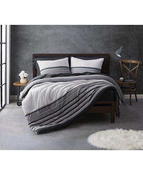 Sean John Knit Stripe Jersey King Comforter Set