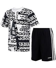 Baby Boys 2-Pc. Cotton Printed T-Shirt & Shorts Set