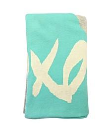 Baby Boys and Girls Organic Cotton Xoxo Knit Blanket