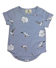 Baby Boys and Girls Organic Cotton Swans T-Shirts