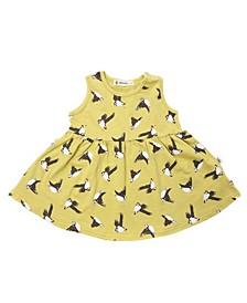 Toddler Girls Organic Cotton Puffins Dress
