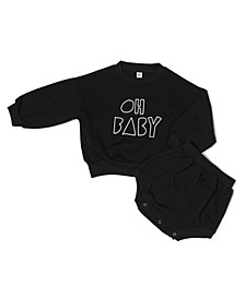 Baby Girls Organic Cotton 2 Piece Baby Long Sleeve Sweater Set