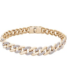 Men's Diamond Link Chain Bracelet (1/2 ct. t.w.) in 10k Gold