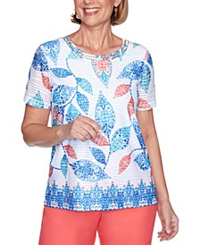 Petite Look On The Bright Side Printed Top
