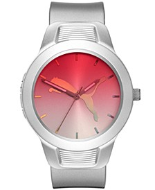 Women's Reset Silver Silicone Strap Watch 36mm