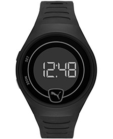 Men's Faster Black Silicone Strap Watch 42mm