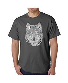 Men's Word Art - Wolf T-Shirt
