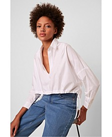 Long Sleeve Rhodes Poplin Top