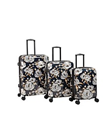 Inez 3 Piece Hardside Spinner Luggage Set