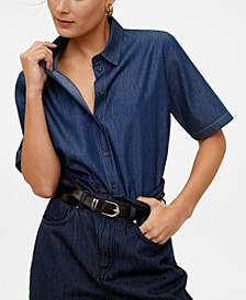 Crop Denim Shirt