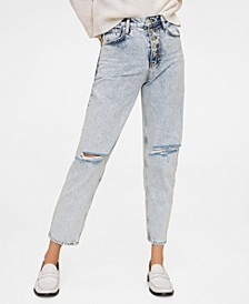 Faded Mom-Fit Jeans
