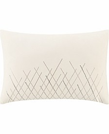 """Andria 12"""" W X 18"""" L Beaded Pillow"""