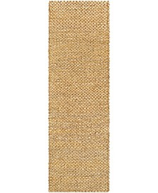 "Curacao CUR-2300 Wheat 2'6"" x 8' Runner Area Rug"