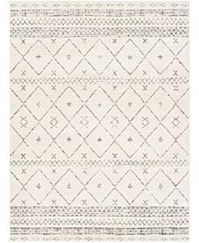 "Roma ROM-2338 White 6'7"" x 9' Area Rug"