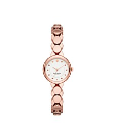Monroe Rose Gold-Tone Stainless Steel Bracelet Watch, 24MM