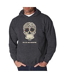 Men's Dia De Los Muertos Word Art Hooded Sweatshirt