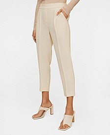 Straight Cut Crop Trousers