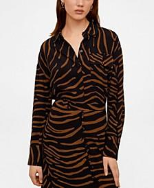Flowy Zebra Printed Shirt