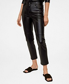 Seam Detail Straight Fit Trousers