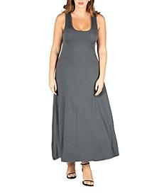 Women's Plus Size Simple A Line Tank Maxi Dress