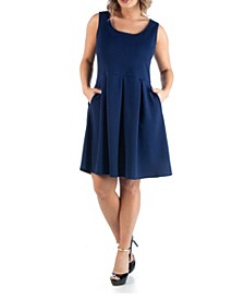 Women's Plus Size Sleeveless Dress