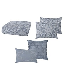 Justine Pleated Full/Queen Comforter Set