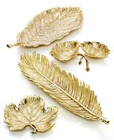 Michael Aram Gold Leaf Serveware Collection