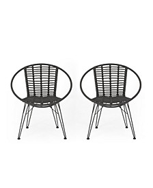 Highland Outdoor Dining Chairs, Set of 2