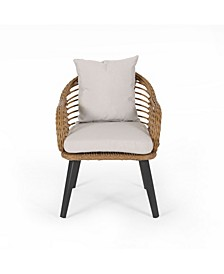 Tatiana Outdoor Club Chairs with Cushions, Set of 2