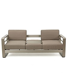 Cape Coral Outdoor Loveseat Sofa with Tray