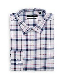 Men's Slim Fit Non-Iron, Wrinkle Resistant Performance Stretch Dress Shirt - Plaid