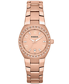 Fossil Women's Serena Rose Gold-Tone Stainless Steel Bracelet Watch 28mm AM4508